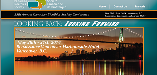 screen shot of conference website with conferce dates (May 28th-31st) and location (Vancouver BC)