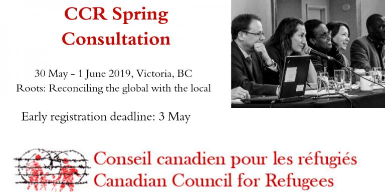 CCR Spring Consultation